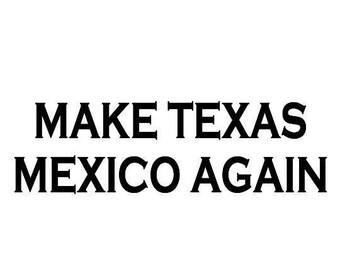 Kids Make Texas Mexico Again Screen Print T-shirt in Kids S-L