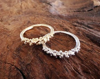 Cute Bubble Ring Silver or Gold