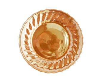 Anchor Hocking plate - vintage peach orange lustre Fire King Suburbia side plate
