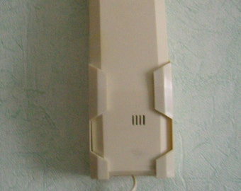 """Keys """"Starlite"""", French record, France phone vintage 80s beige/yellow cream beige wall phone"""