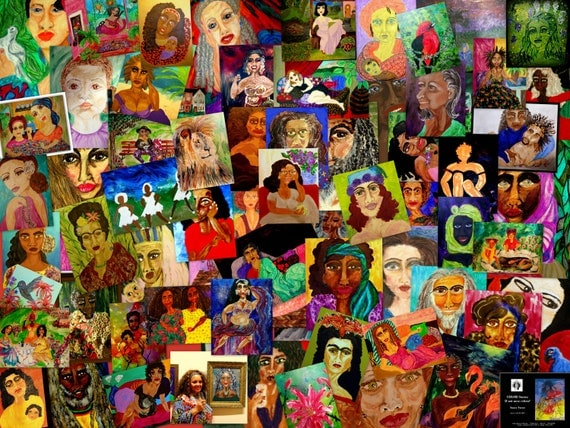 "Multi-Image Collage POSTER (Limited) from ""Color Storm: If Not Now; When?"" Exhibit 2017 - The Art of Stacey Torres"