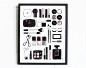 Makeup Wall Art / Glam Wall Decor / Cosmetics Wall Decor/ Glam Wall Prints / Vanity Wall Decor / Makeup Wall Decor / Makeup Artist Gift