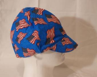 Patriotic Blue cap with flags