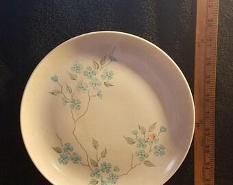 Vintage Blue and White Floral Melamine Plates 8 Set