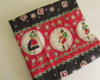 Darling Ethnic Border Print Remnant - 1 Yard x 22 Wide - Black and Red