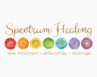 Chakra Symbols Logo Design , Chakra Logo , Watercolour Chakra , Rainbow Logo , Rainbow Colours , Reiki Logo , Yoga Logo , Massage Logo