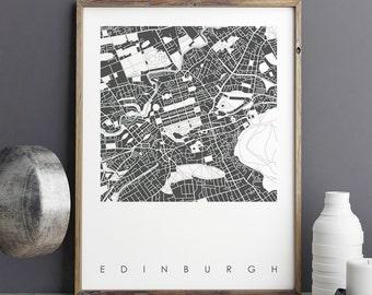 Map Art Print - City Maps - Edinburgh Map Print - City Prints - Travel Print - Limited Edition Print - Giclee Print - Wall Art Prints