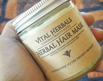 Organic Hair Mask - herbal hair mask - hair conditioner - deep conditioning - hair care - herbal hair products - vital herbals