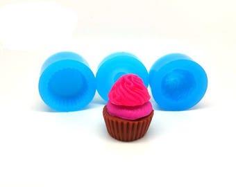 Miniature 3-part Cupcake mold