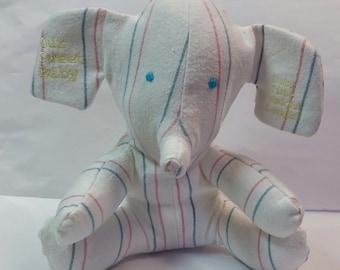 Keepsake Elephant from Hospital Blanket