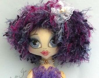 MERMAID doll, kei cloth doll fairytale gift art doll, original, gift for her handmade doll, fantasy, heirloom doll, OOAK WINSOMESUGARSHELL