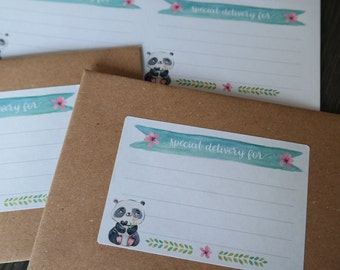 Mailing labels - Peaceful Panda
