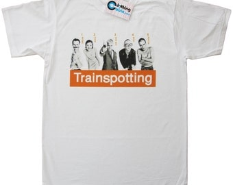 Trainspotting Cult Movie Film Poster T Shirt 1996 90's Danny Boyle Ewan McGregor