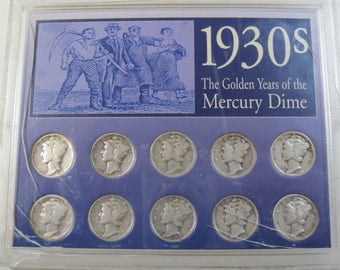 1930s dated The Golden Years of the Mercury Dime (#E321b)