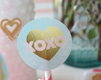 Galentine's Day Cupcake Toppers. Galentine's Day Party Decor. Printable / DIY.  *DIGITAL DOWNLOAD*