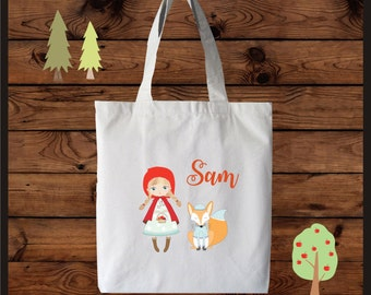 Cute Red Riding Hood Tote Bag ~ Customize ~ Personalize