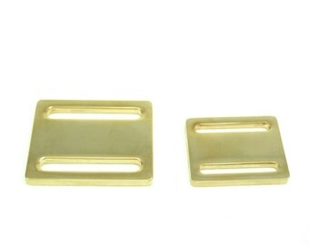 2 PCS  Flat Gold or Silver-plated  Sliding buckle for shoulder strap, 2 sizes available