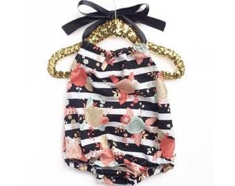 Baby Romper, Pink Gold Romper, Girls Sundress, Baby Romper, Baby Sunsuit, Toddler Romper, Toddler Sunsuit, Girls Summer Clothing