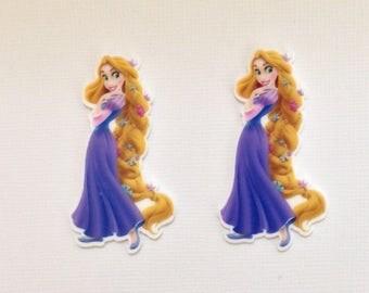 Tangled Planar Resin Set of 2 - Tangled Cabochon - Tangled Hair Bow Center - Tangled Flat Back Resin - Disney Tangled Resin - Rapunzel Resin