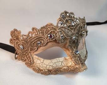 Tan Masquerade Mask Lace, Masquerade Mask, Venetian Mask, Masquerade Ball Masks, Masquerade Masks Women, Halloween Costume Mask Party Dress