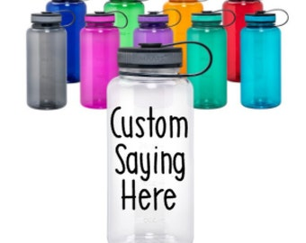 Custom Water Bottle // Custom Bottle // Personalized Bottle // Gym Bottle // Custom Sports Bottle // 34oz Bottle // Unique Gifts under 20