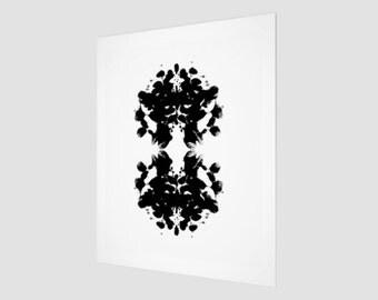 Medusa-Ink Blot Art Print