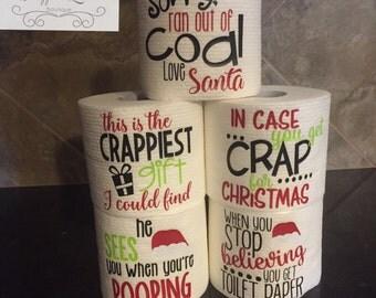 Gag Gift Toilet Paper, Christmas Toilet Paper, Gag Gift for Men, Gag Gift for Women, Funny Gag Gift, Bathroom Decor