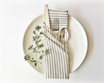 Linen Napkin – Striped Eco-Friendly Table Linen