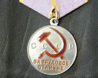 Medal for labor distinction,Lilac ribbon,USSR awards