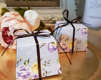 10x Beautiful Wedding Favor Paper Gift Boxes