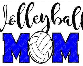 Volleyball Mom| SVG| DXF| EPS| Png| Cut File| Volleyball| Volleyball Mom| Silhouette| Cricut| Vector| Instant Download