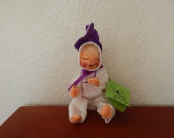 1985 Annalee Baby Dressed in Easter Bunny PJ's