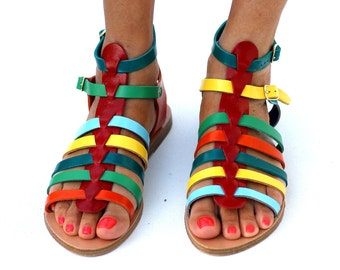"Sandals ""Confetti"" (handmade in Greece)"