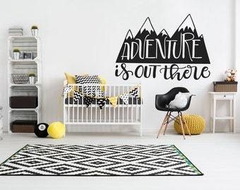 Adventure Is Out There Decal / Nursery Decal / Girls Room Decal / Boys Room Decal / Nursery Decor / Baby Decal