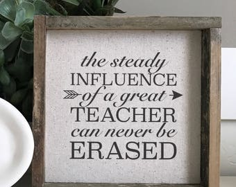 Great Teacher  // 9x9 Handmade Sign
