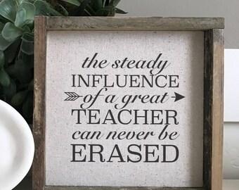 Great Teacher  // 9x9 Handmade Sign