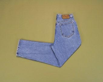 90s Boyfriend Jeans, Calvin Klein Jeans, High Waisted Jeans, Mom Jeans, 1990s Vintage CK Jeans, High Waist Jeans, Medium Wash, Size 14