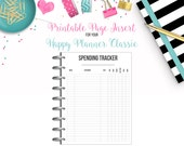 LAST CHANCE: Spending Tracker - Budget Binder Printable Page Insert for your Happy Planner Classic - Instant Download