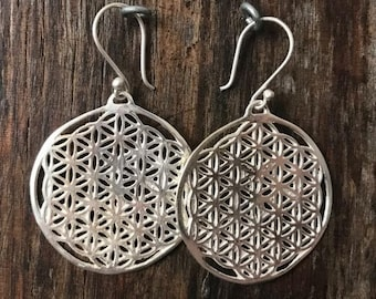 FLOWER Of LIFE -Stirling Silver Earrings