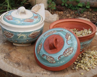 Ceramic Sprouter. Sproutes. raw food power. Germination dish. Sprouting dish. Clay.  Sprouting Seeds. Healthy Good .