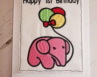 Children's Birthday Cards.....Embroidered