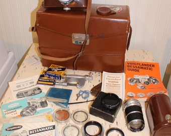 Vintage Voigtlander Bessamatic Camera with lenses cases instructions filters etc Amazing Condition vintage photography cool accessories