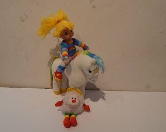 Rainbow Brite 7 inch doll, Starlite the Horse 7 inch and Twink Sprite 4 inch Set Hallmark