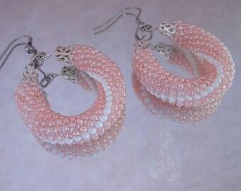 Hoop earrings Beaded earrings Dainty earrings Modern earrings Earrings for women Dangle earrings Elegant earrings Wedding earrings Gift