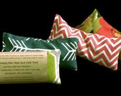 MIGRAINE HEADACHE Cold Compress, Eye Pillow, Sinus, Tension, Allergy Relief Lavender Peppermint  Natural Flaxseed Heat Cold Therapy