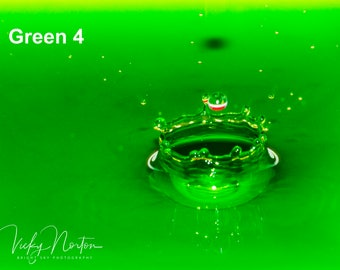 Water Drop Fine Art, Photography - The Green Collection - Home, Kitchen, Living Room, A4, Bedroom, Bathroom, Mix and Match, Gift,