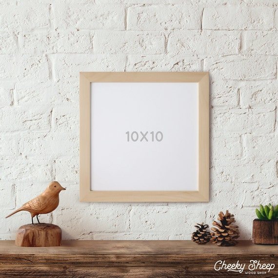 10x10 unfinished wood frames glass and backing square frame