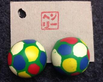 Turtle Shell Superball Earrings!