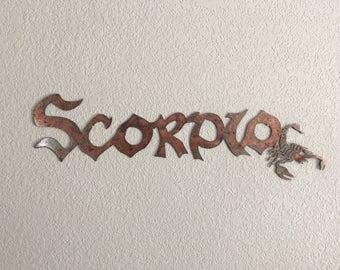Scorpio - Scorpio Sign - Horoscope - Scorpion - Metal Art - Home Decor -