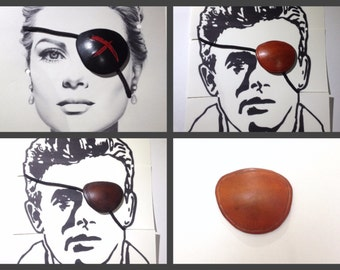 Leather Eyepatch custom leather eye patches for eye injuries, cosplay, costumes, or just fashion